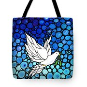 Peaceful Journey - White Dove Peace Art Tote Bag