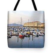Peaceful Marina Tote Bag