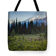 Peaceful Mountain Flowers Tote Bag