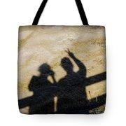 Peaceful People Shadows Tote Bag