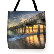 Peaceful Surf Tote Bag