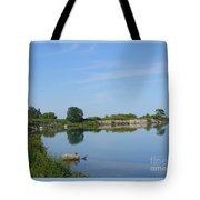Peaceful Water Reflection At Tommy Thompson Park Tote Bag