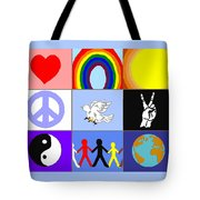 peaceloveunity Mosaic Tote Bag