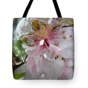 Peach Blossom In Ice Two Tote Bag