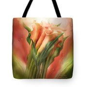 Peach Callas Tote Bag