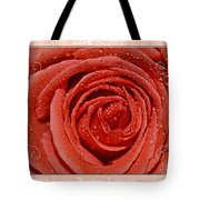 Peach Love Rose Tote Bag
