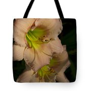 Peach Parfait Daylilies Tote Bag
