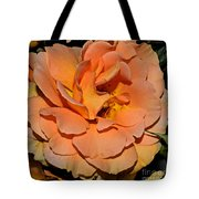 Peach Rose - Digital Paint Tote Bag