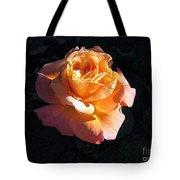 Peach Rose Palm Desert Tote Bag