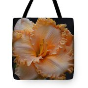 Peach Ruffled Lily Tote Bag