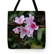 Peach Tree Blooms Miskitos Swoon Tote Bag
