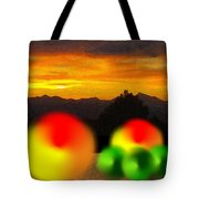 Peaches And Limes On A Colorado Mountain Top Tote Bag