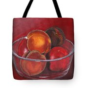 Peaches And Nectarines Tote Bag