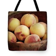 Peaches In A Basket Tote Bag