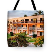 Peachy Apartments Tote Bag