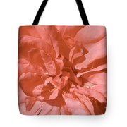 Peachy Pink Jasper Rose Tote Bag