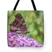 Peacock Butterfly Inachis Io On Buddleja Tote Bag