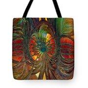 Peacock City Of Abstract Fx  Tote Bag