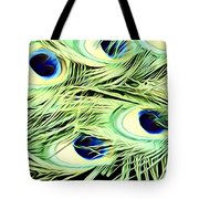 Peacock Colour Tote Bag