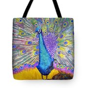 Peacock Dance Tote Bag
