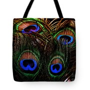 Peacock Eye Feathers Tote Bag