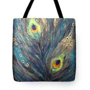 Peacock Eyes Tote Bag by Elena  Constantinescu
