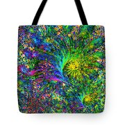 Peacock Feather Abstract Tote Bag