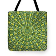 Peacock Feathers Kaleidoscope 2 Tote Bag