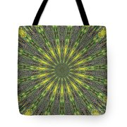 Peacock Feathers Kaleidoscope 5 Tote Bag