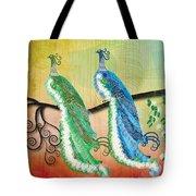 Peacock Love Tote Bag