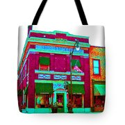 Peacock On Third Through Rose Colored Glasses Tote Bag