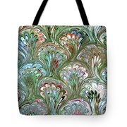 Peacock Shell Pattern Abstract Tote Bag