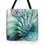 Peacock Tail Tote Bag