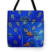 Peacock Vi Tote Bag