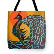 Peacock X Tote Bag