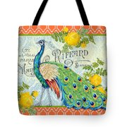 Peacocks In The Rose Garden-3 Tote Bag
