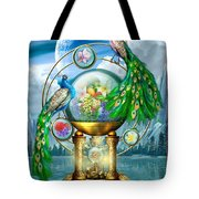 Peacocks Lagoon Tote Bag