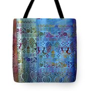 Peacocks On Silk Tote Bag