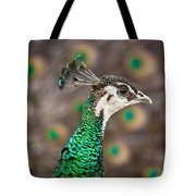 Peahen And Peacock Tote Bag