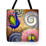 Peacock Swirl Tote Bag