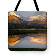 6m6530-a-peaks Reflected Touolumne Meadows  Tote Bag