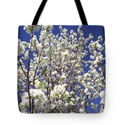 Pear Tree Blossoms In Spring Tote Bag