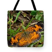 Pearl Crescent Butterfly Tote Bag