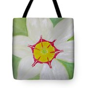 Pearl White Flower Tote Bag
