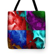 Pearlescent Posies Tote Bag