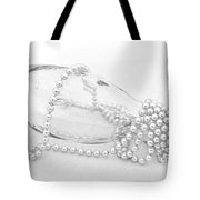 Pearls And Old Glass Abstract Tote Bag