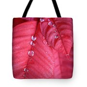 Pearls On Poinsettia Tote Bag