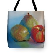 Pears And Apple Tote Bag