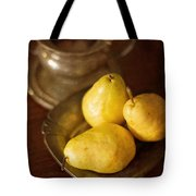 Pears And Great Grandpa's Silver Tote Bag