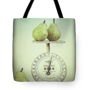 Pears And Kitchen Scale Still Life Tote Bag